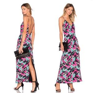 NWT NBD Tropical Plunge Maxi Dress in Pink  Floral